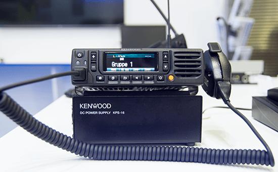 Kenwood DMR Mobilgerät in der Ausstellung
