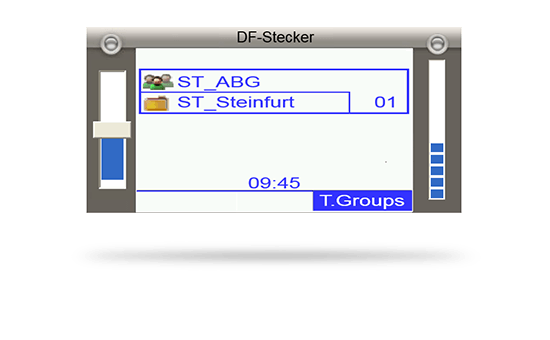 IDECS Applikation Digitalfunkstecker Screenshot