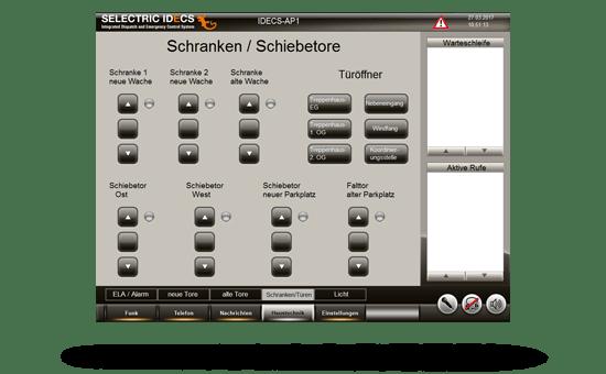 Screenshot vom idecs Bildschirm