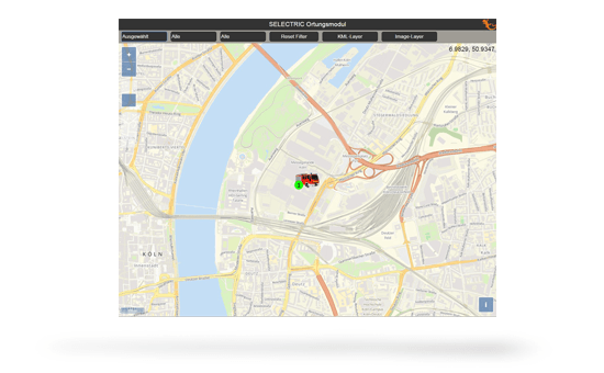 IDECS Modul Ortung Screenshot