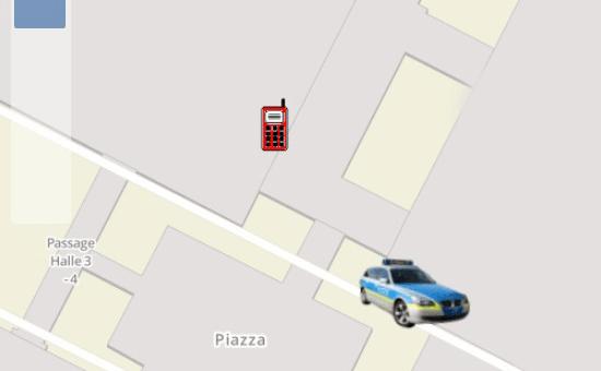 IDECS Modul Ortung Screenshot Detail