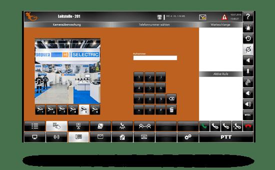 Screenshot vom idecs Bildschirm zur Türsteuerung