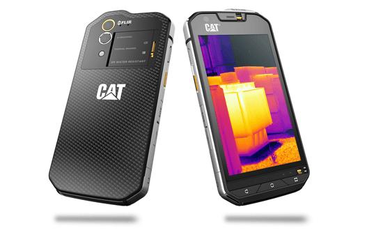 CAT S60 Smartphone von hinten und vorn
