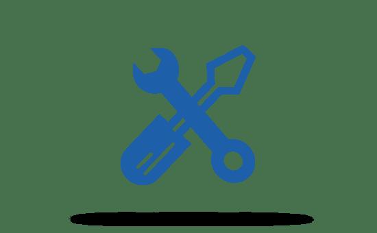 Grafik Schraubenschlüssel und Schraubendreher