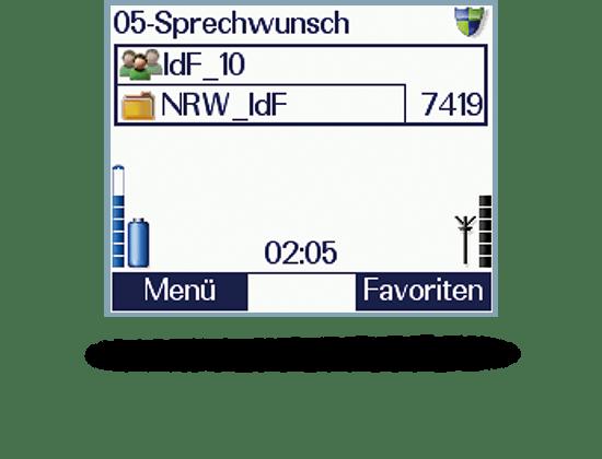 Grafik Applikationen Statusanzeige Sprechwunsch