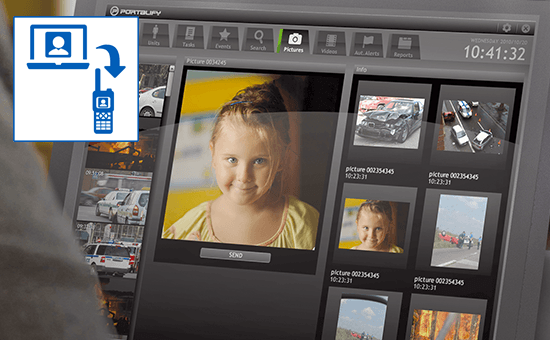 Applikation Image Messaging Monitor
