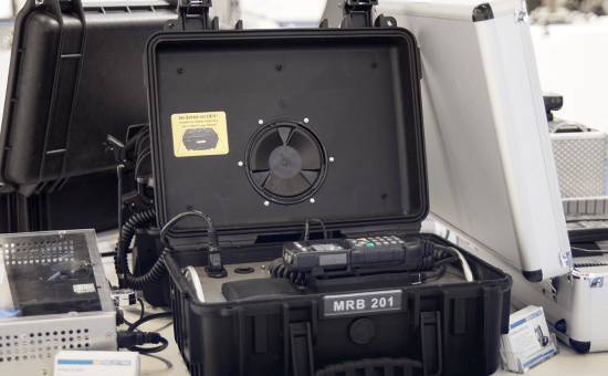 SELECTRIC Digitalfunk Kofferlösung in Ausstellung