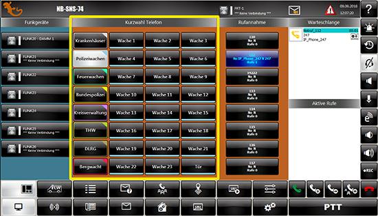Screenshot Bedienoberfläche IDECS