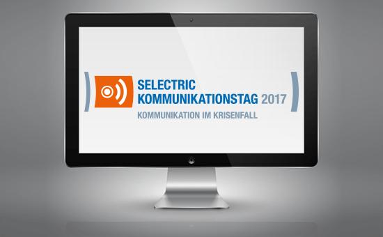 Logo SELECTRIC Kommunikationstag auf Monitorscreen