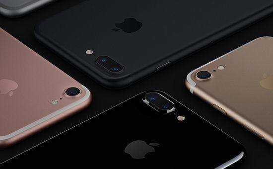 Apple iPhone7 Smartphone in allen Farben Detail