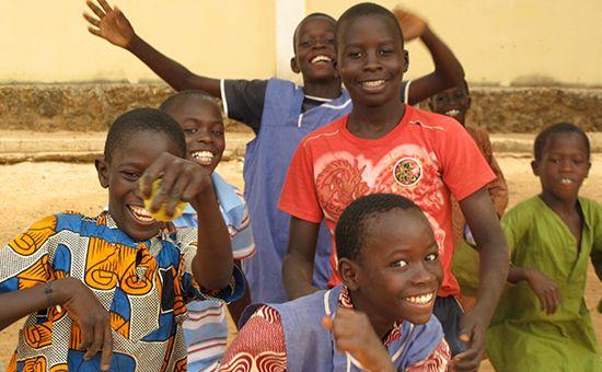 Schulkinder im Senegal