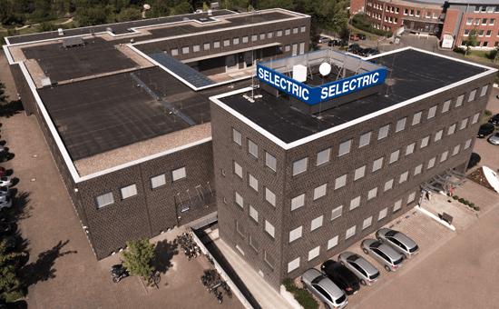 SELECTRIC Gebäude von schräg oben