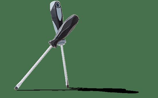 Symbolbild Reparatur zwei Schraubendreher