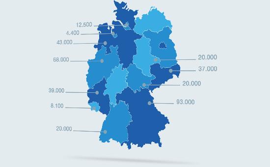 Startseitenslider Deutschlandkarte
